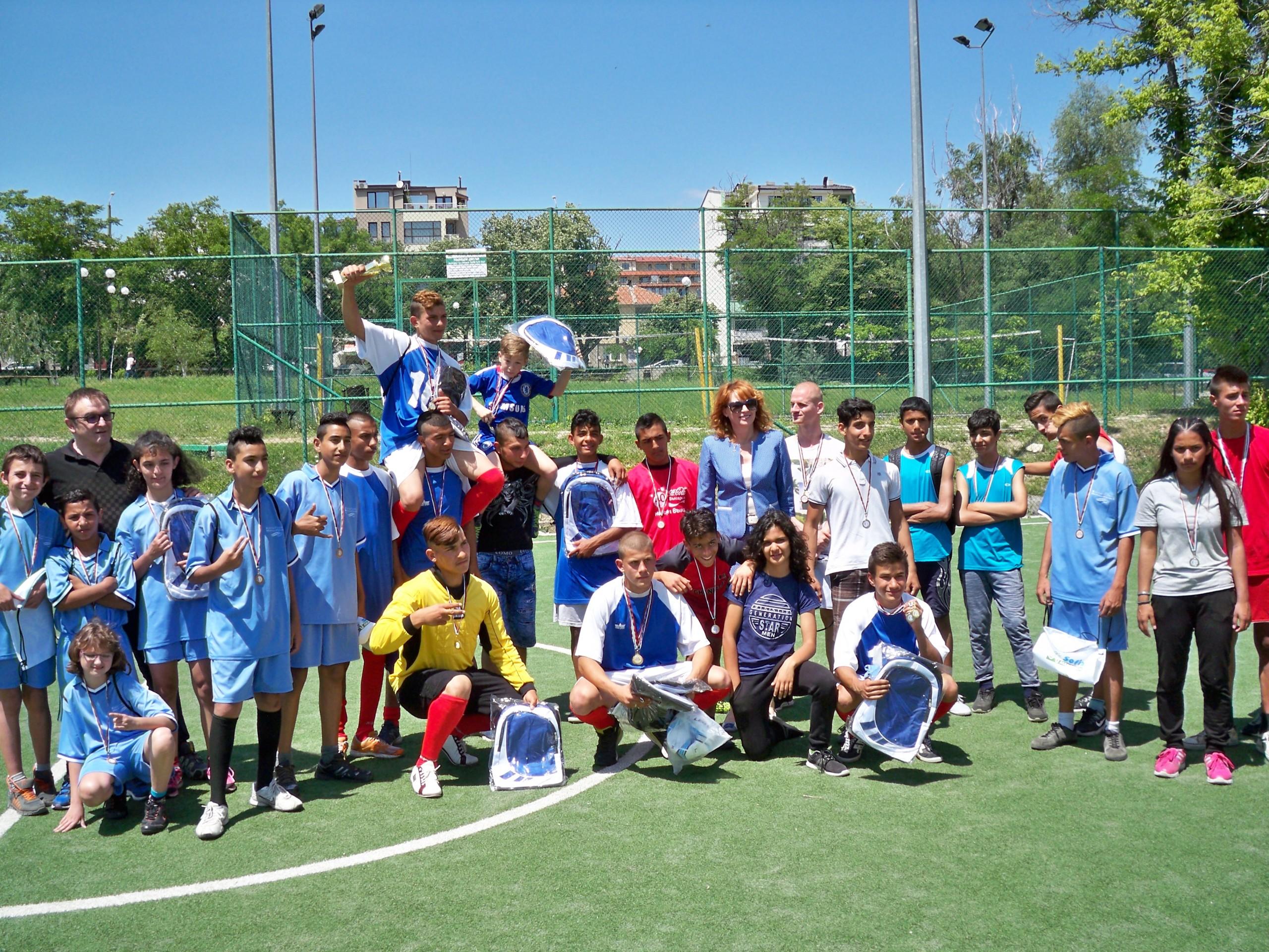 """Спортен празник в гр.Стара Загора  под наслов """"Спортът достъпен за всички деца""""."""